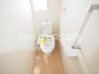 1階トイレ施工例/温水洗浄便座を標準装備!