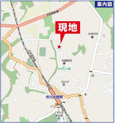 【地図】大野町三丁目新築3棟(残り2棟)