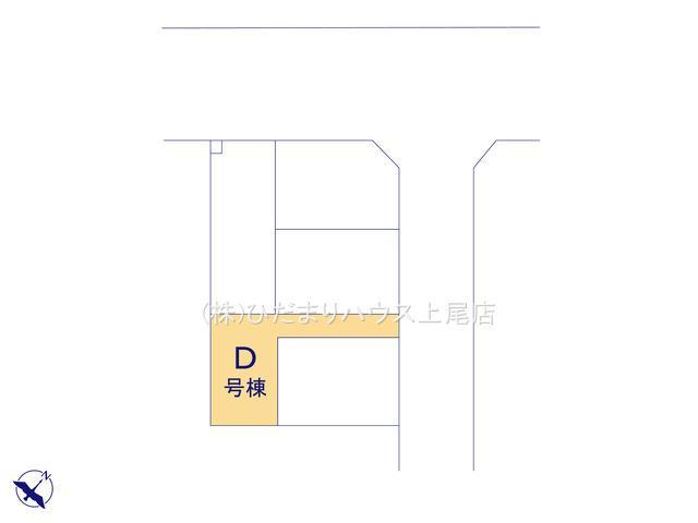 【区画図】上尾市中妻3丁目 新築一戸建て ハートフルタウン D