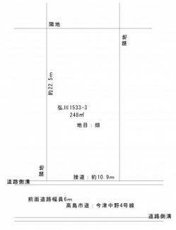 【土地図】弘川中野団地75坪土地