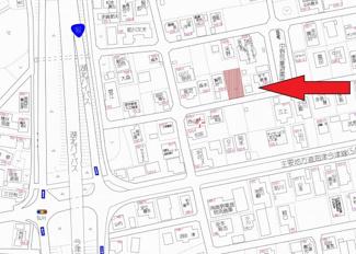 【地図】弘川中野団地75坪土地
