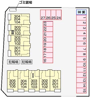 【地図】サニースクエアⅠ