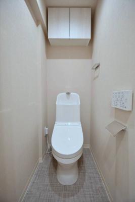 【トイレ】菱和パレス銀座八丁目 1999年築 7階 角 部屋 リ ノベーション済