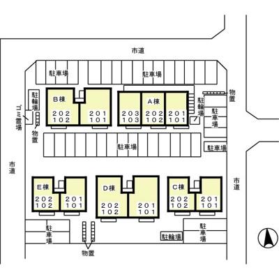 【区画図】リビングタウン八日市場D