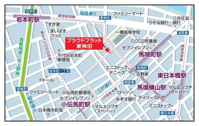 【地図】プラウドフラット東神田