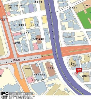 【地図】OLIO九段下