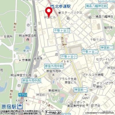 【地図】ステージファースト原宿
