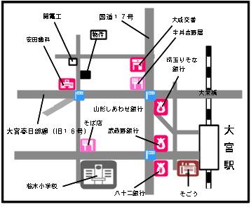 【地図】ラシュラント大沢