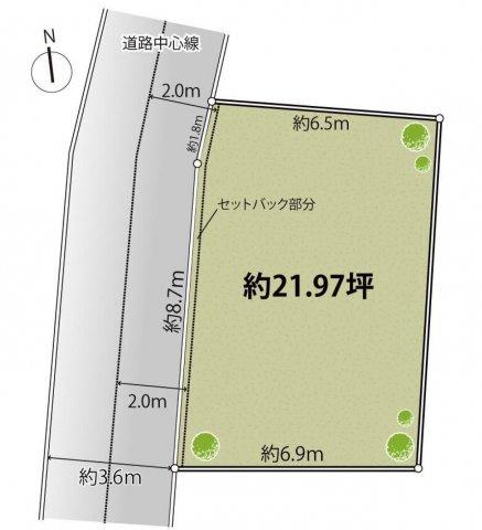 【土地図】仲介手数料無料 練馬区下石神井6丁目建築条件無売地