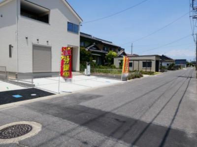 碧南市入船21-1期新築分譲住宅全体写真です。2021年10月撮影