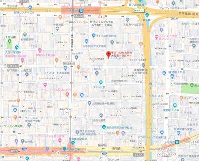 【地図】COZY南久宝寺