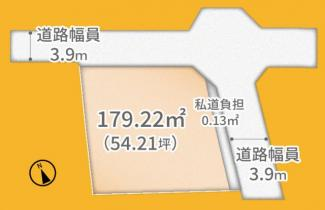 【土地図】宇治市木幡南山1区画 売土地
