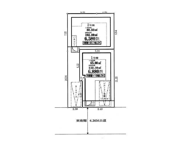 【区画図】下丸子3丁目 土地