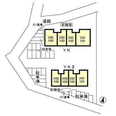 【区画図】セジュールYK Ⅱ