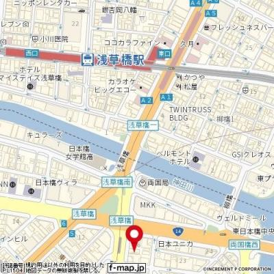 【地図】ナビウスプレリア東日本橋