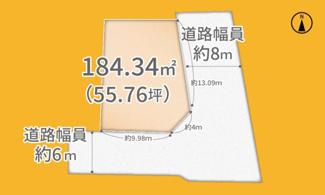 【土地図】木津川市城山台11丁目 売土地