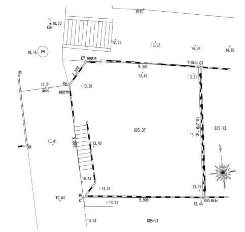 【土地図】神奈川区神大寺2丁目 土地 建築条件なし