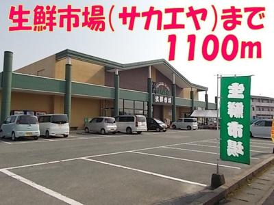 生鮮市場(サカエヤ)まで1100m