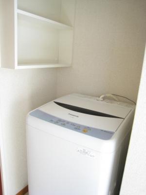 洗濯機も最初から付いて使用できます