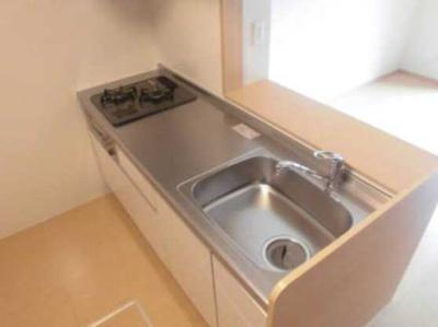 【キッチン】La Luce 敷金0 ネット無料 2人入居可 浴室乾燥機