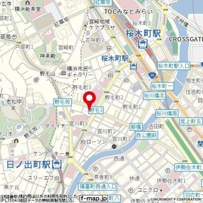 【地図】Rising place 桜木町二番館