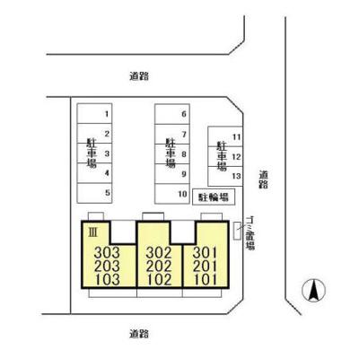 【区画図】ルノワール瑞穂 Ⅲ番館