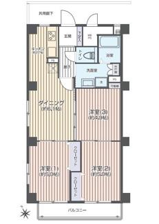 新規内装リフォーム済、7階南西向きで陽当り・眺望良好です