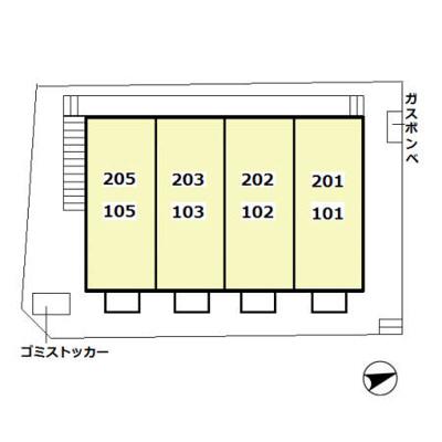 【区画図】プラッツ豊四季