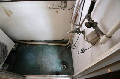 外からの目が気にならないバルコニーで洗濯物が干せます