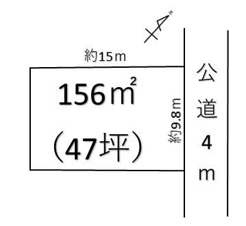 【土地図】深谷市上柴町東2丁目 1490万 土地