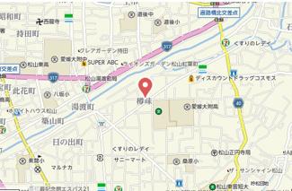 【地図】樽味住居付き店舗
