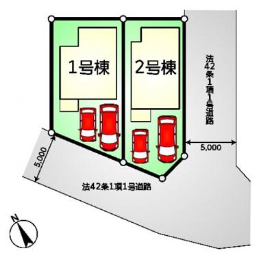【区画図】調布市布田5丁目 新一戸建て 京王線 調布駅