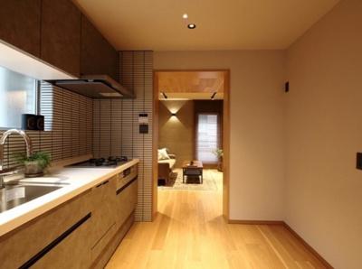システムキッチン 食洗機付き 窓あり