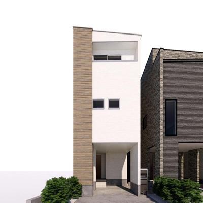 【外観パース】若葉町新築住宅