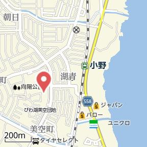 【地図】びわ湖美空第二団地8号棟