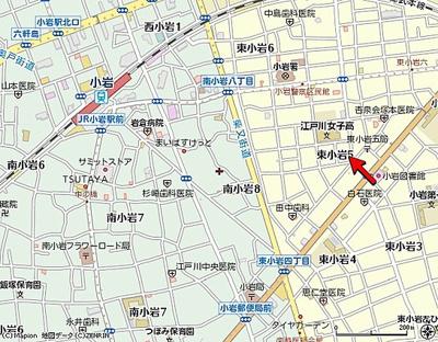【地図】ルミエール小岩