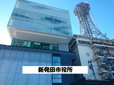 新発田市役所まで1100m