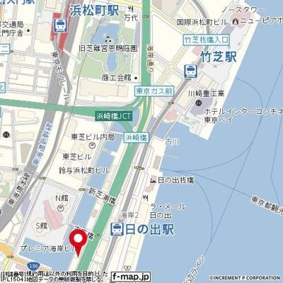 【地図】パークウェル浜松町