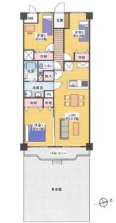 新規内装リノベーション済、広々専用庭付の1階3LDKです