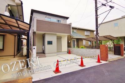 【外観】【駅徒歩3分!】越谷市袋山 新築戸建て