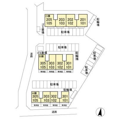 【区画図】PARK HILLS MIYAKO A