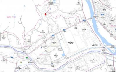 【地図】下北方2丁目 売地