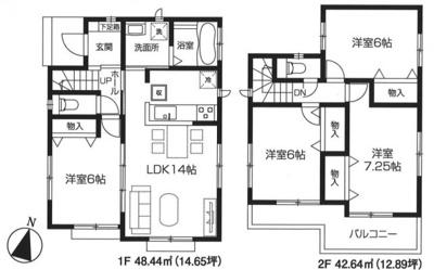 【区画図】東村山市多摩湖町4丁目・全1棟 新築一戸建