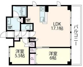 南東角部屋!LDKは17帖以上のとても使いやすい間取りです!
