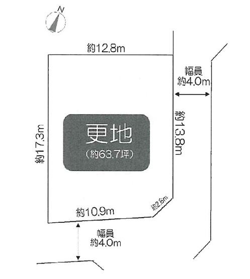 【土地図】瀬川1丁目建築条件無売地