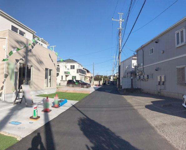 【前面道路含む現地写真】野田市花井Ⅶ 全8棟