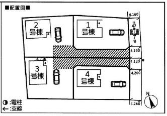 【区画図】小美玉市羽鳥第4 新築戸建 3号棟