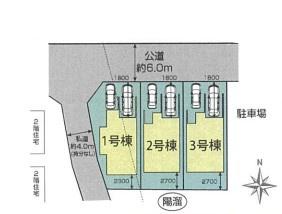 【区画図】西区三橋5丁目新築戸建て