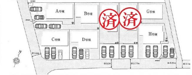 【区画図】野田市花井Ⅶ 全8棟