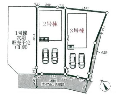 【区画図】三木市本町 第1 3号棟